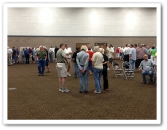 The Corps of Engineers, in cooperation with the Diversion Authority, hosted approximately 150 people at a public meeting on Tuesday, June 25, 2013, at the Fargo Civic Center