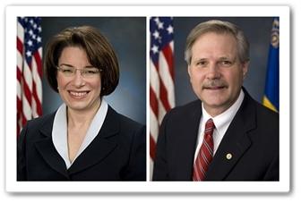 U.S. Senators Amy Klobuchar and John Hoeven