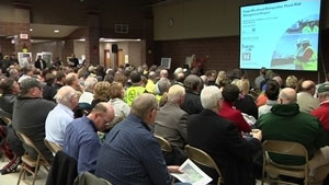 The U.S. Army Corps of Engineers and the Diversion Authority hosted the public meeting on January 8 at Bennett Elementary School in Fargo