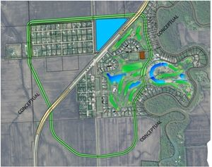 A conceptual map of the ring dike proposal was created for the October 11, 2012, Diversion Authority meeting.