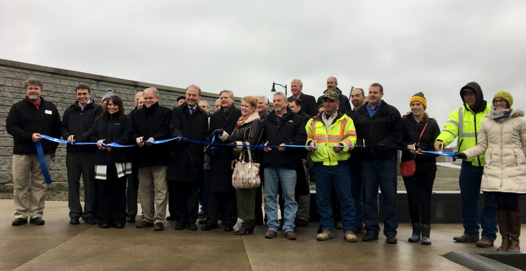 2nd Street Officially Opened; Floodwall Completed
