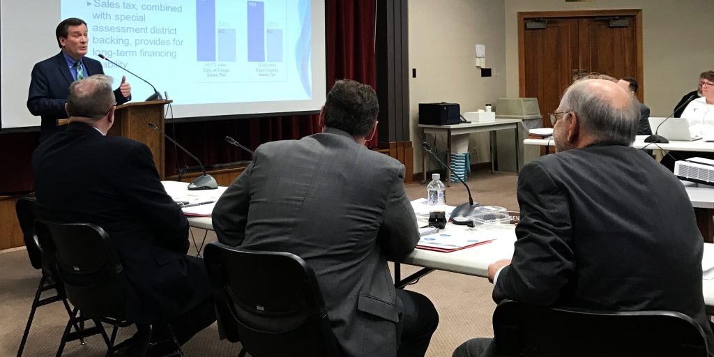 Local and federal leaders present Project information to ND Legislative members