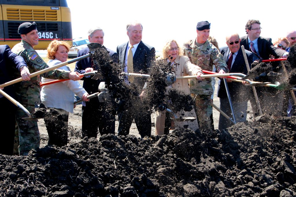 Leaders break ground on Diversion Inlet and Control Structure