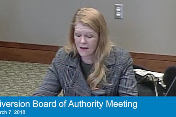 Mar. 7, 2018 Special Board Meeting