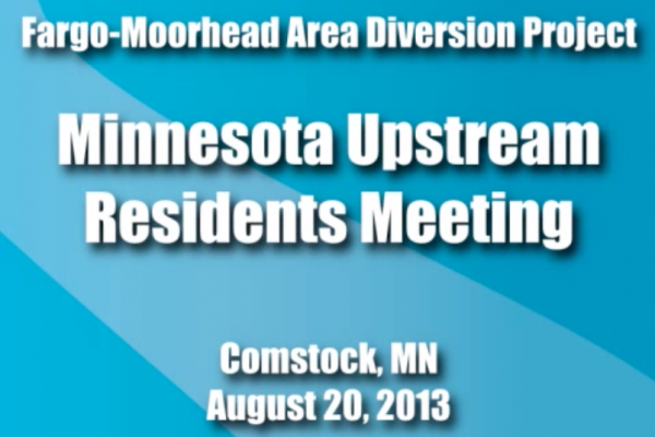 Aug. 20, 2013 Minnesota Upstream Residents Meeting