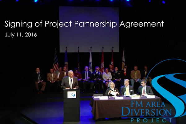 July 11, 2016 Project Partnership Agreement Signing