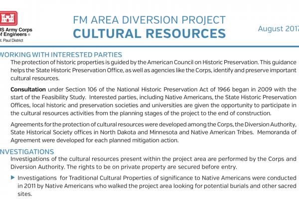 Cultural Resources – Aug. 2017 – U.S. Army Corps of Engineers