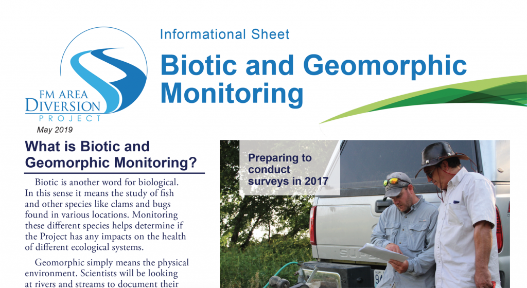 One-pager: Biotic and Geomorphic Monitoring