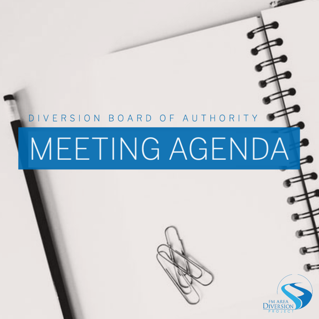 Diversion Board of Authority – Agenda for October 1, 2020