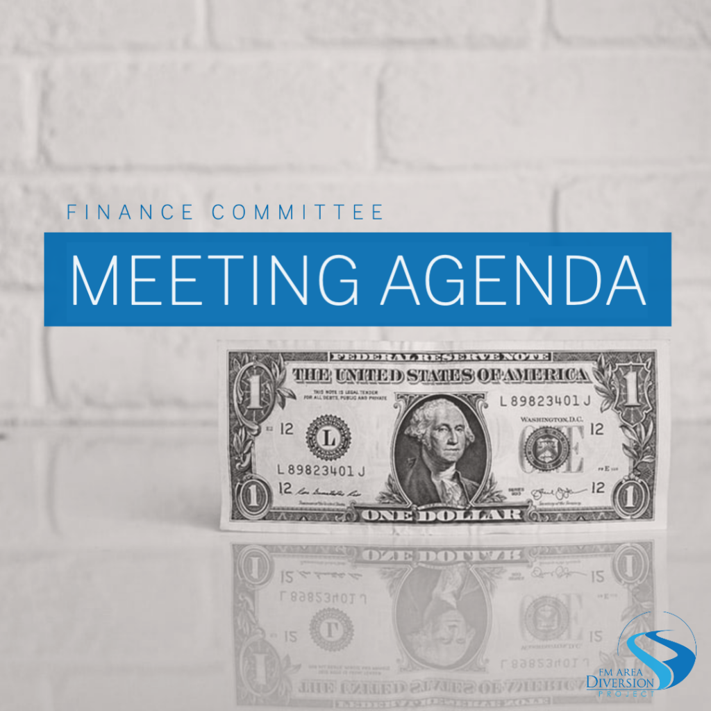 Diversion Authority Finance Committee – Agenda for May 27, 2020