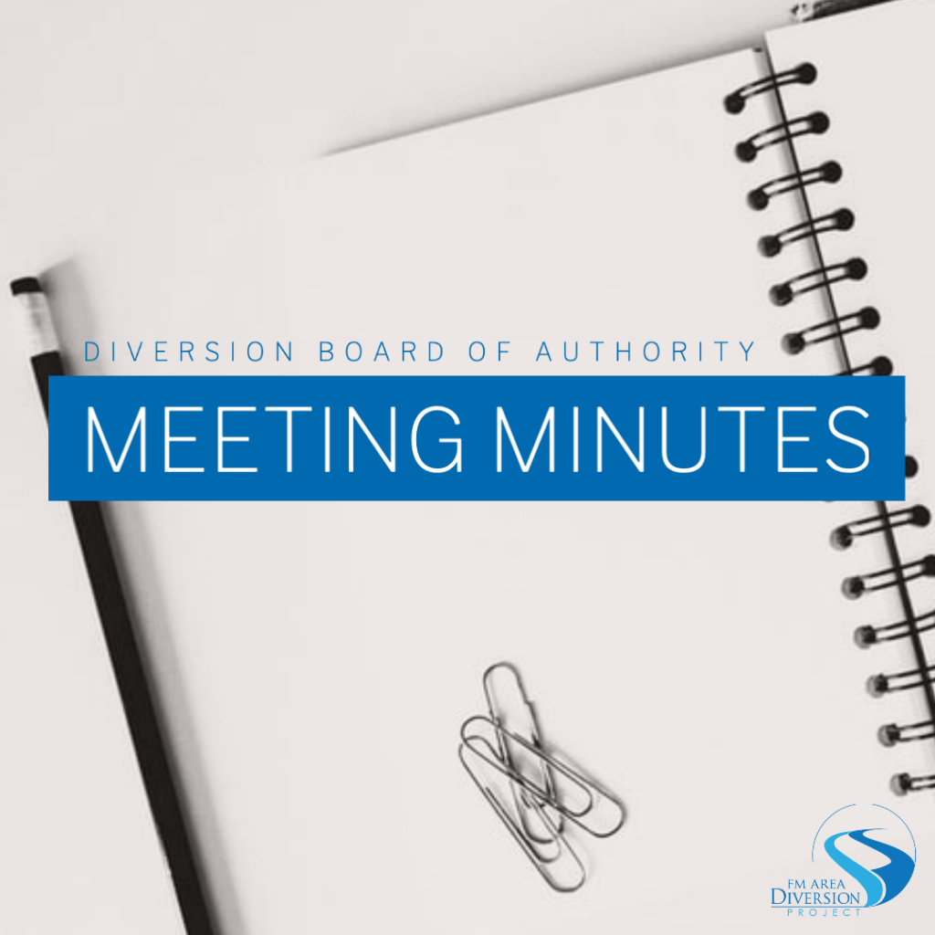 Diversion Authority Meeting Minutes – October 22, 2020