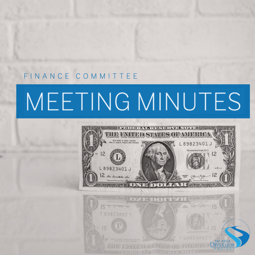 Diversion Authority Finance Committee – Meeting Minutes from August 26, 2020