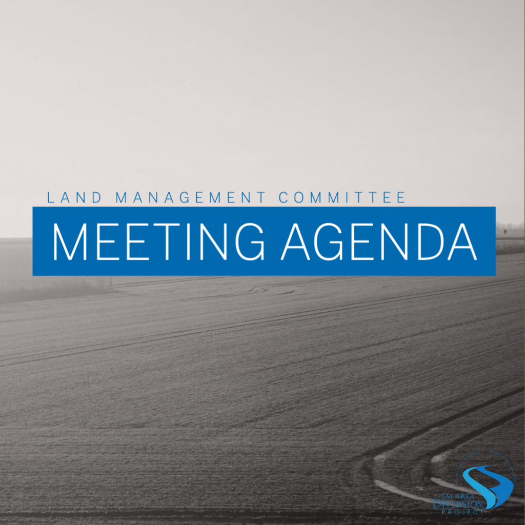 Land Management Committee – Agenda for May 22, 2019