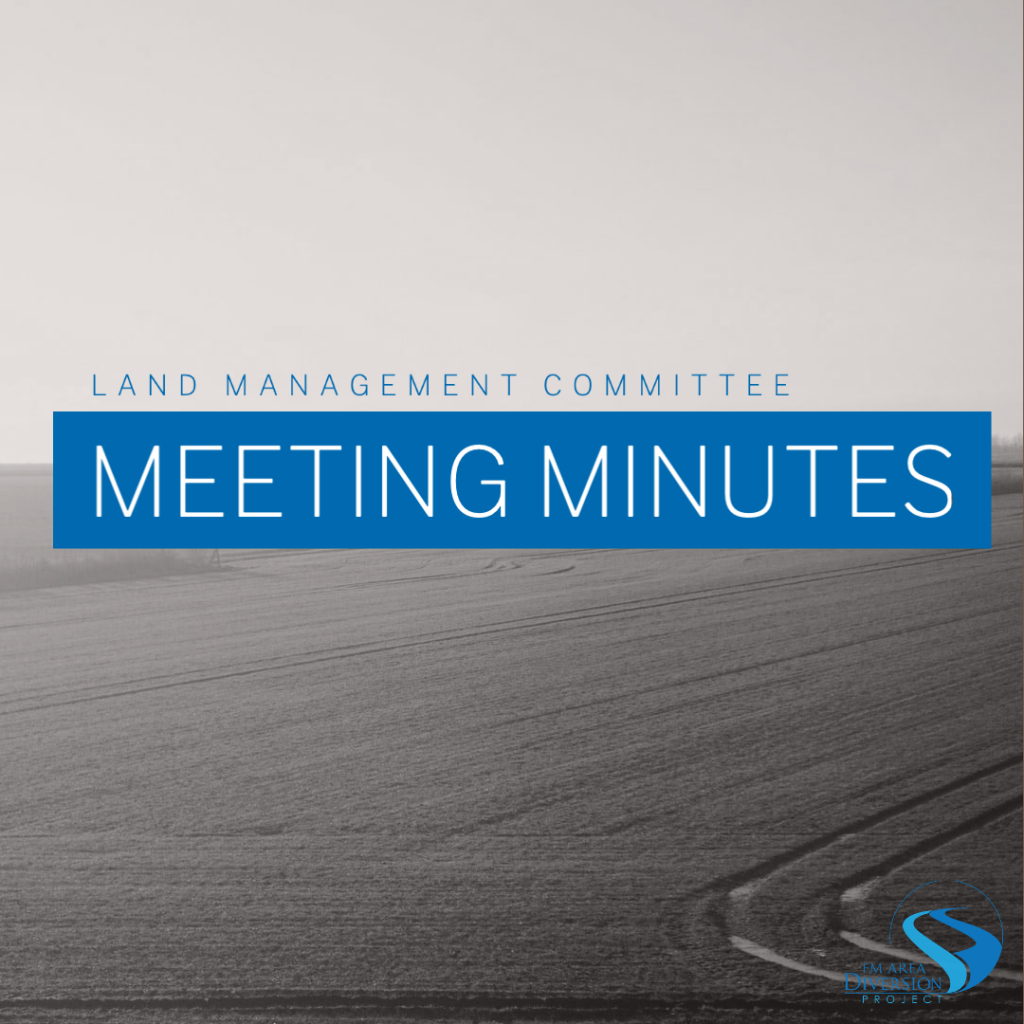 Diversion Authority Land Management Meeting Minutes from May 27, 2020
