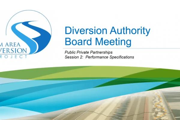 Diversion Board Meeting Video – April 17, 2020