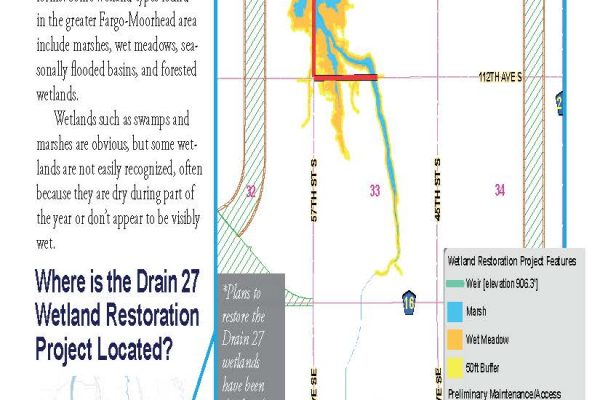 Informational Sheet: Drain 27 Wetland Restoration Project