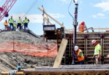 First Concrete Poured at Diversion Inlet & Control Structure