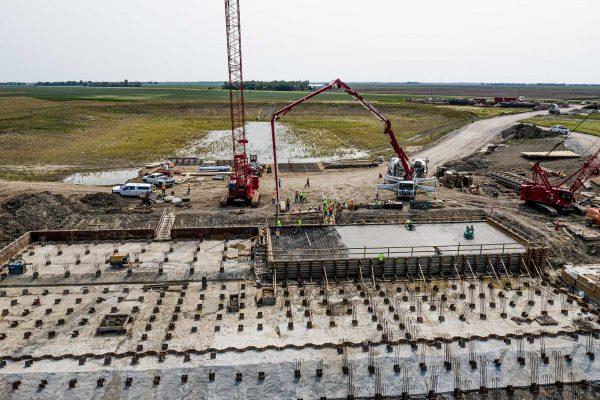 Sen. John Hoeven Reviews Inlet Construction