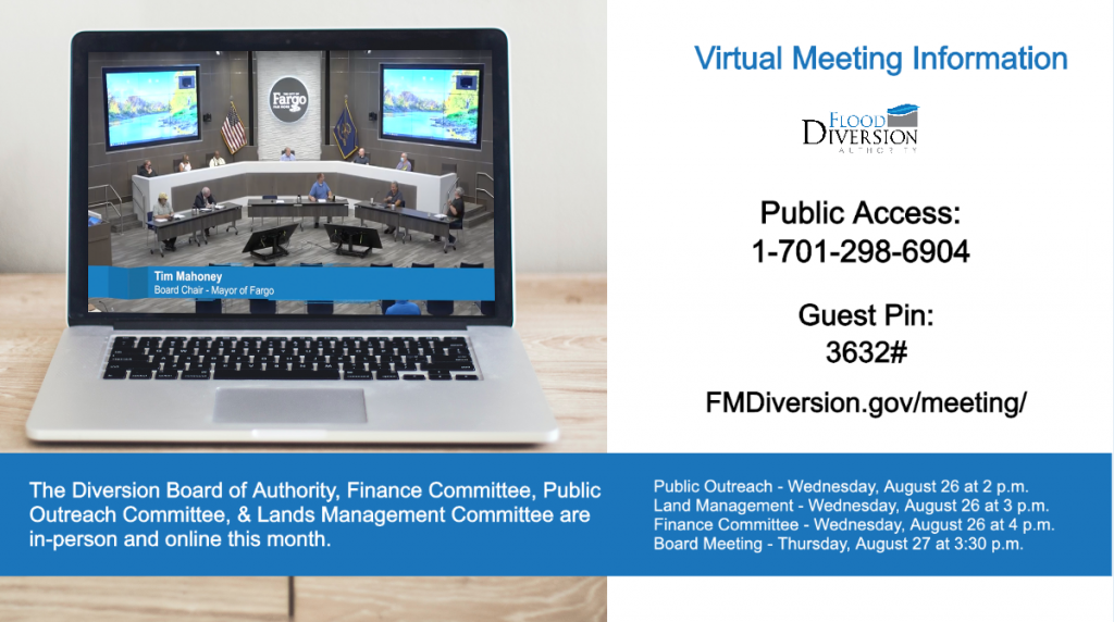 August Diversion Meetings Online & In-Person