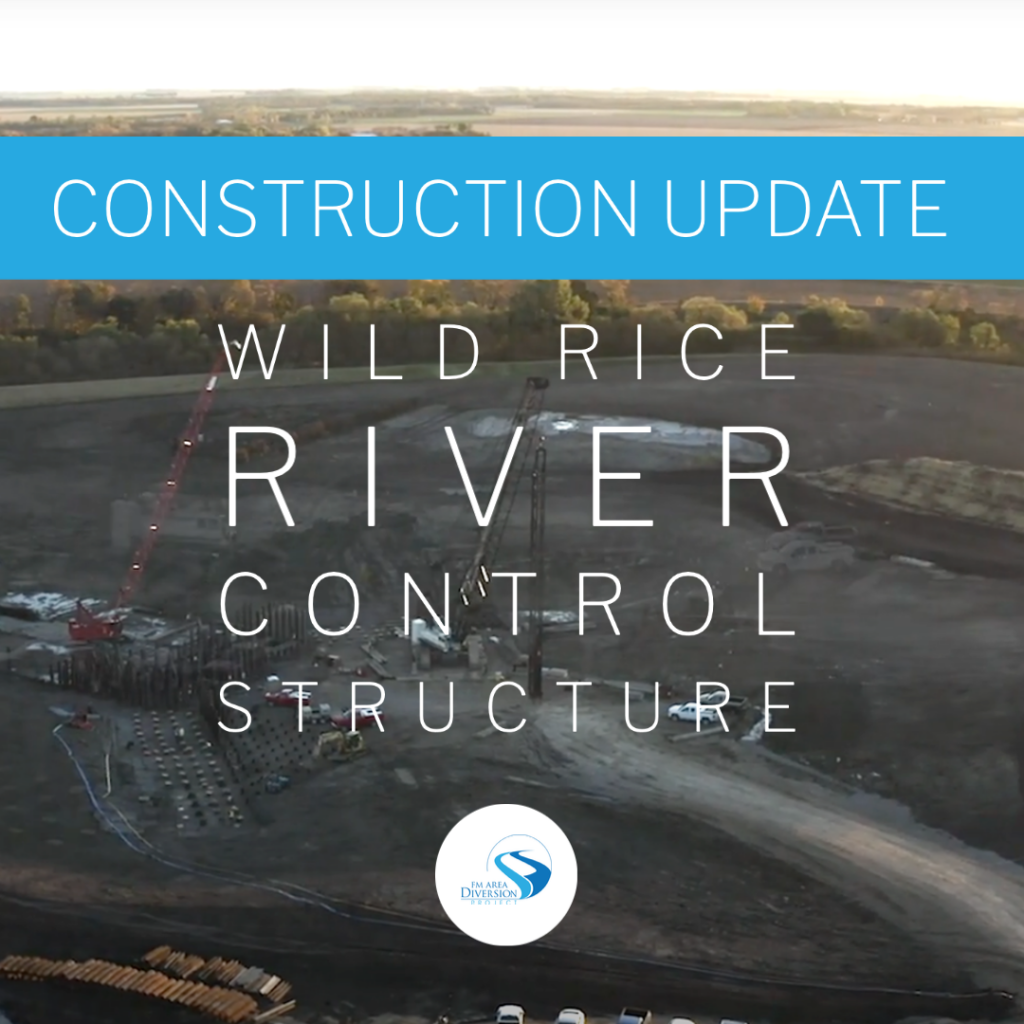 Construction Update // October 2020 Wild Rice River Control Structure