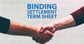 Settlement Terms Sheet