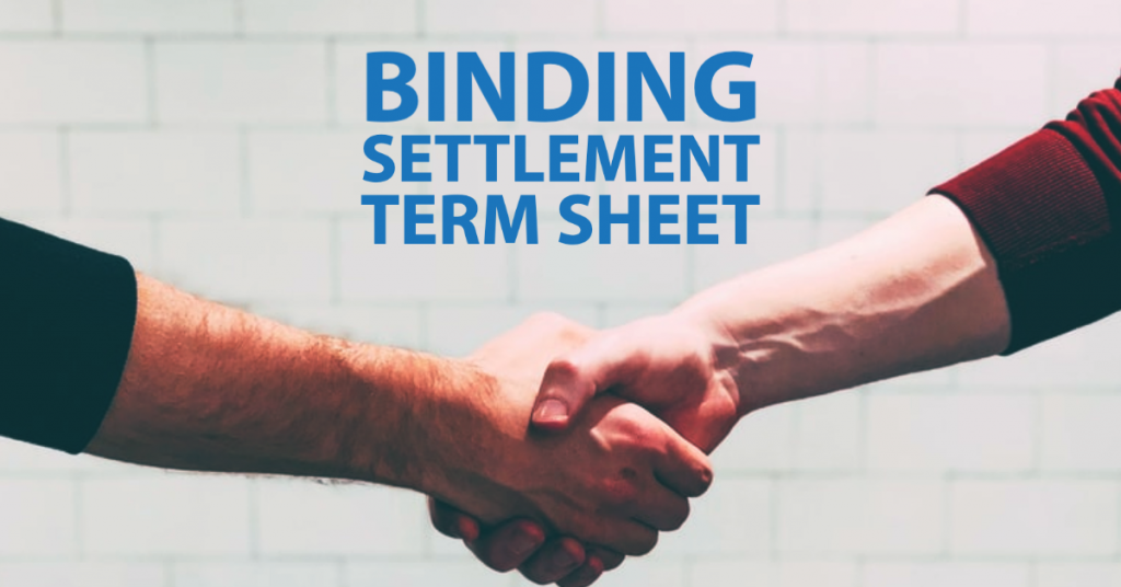 Settlement Terms Sheet