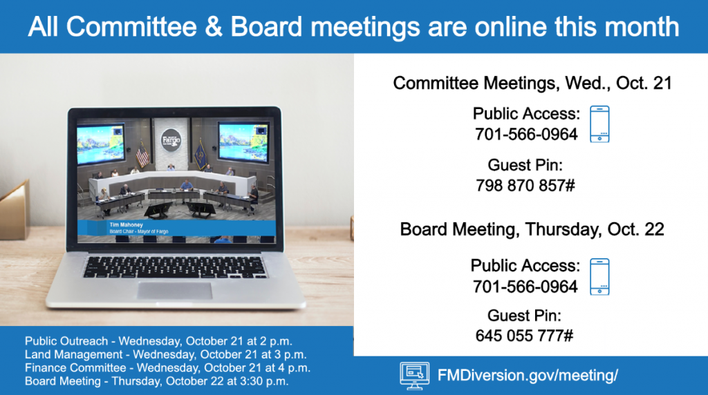 October Diversion Meetings Online