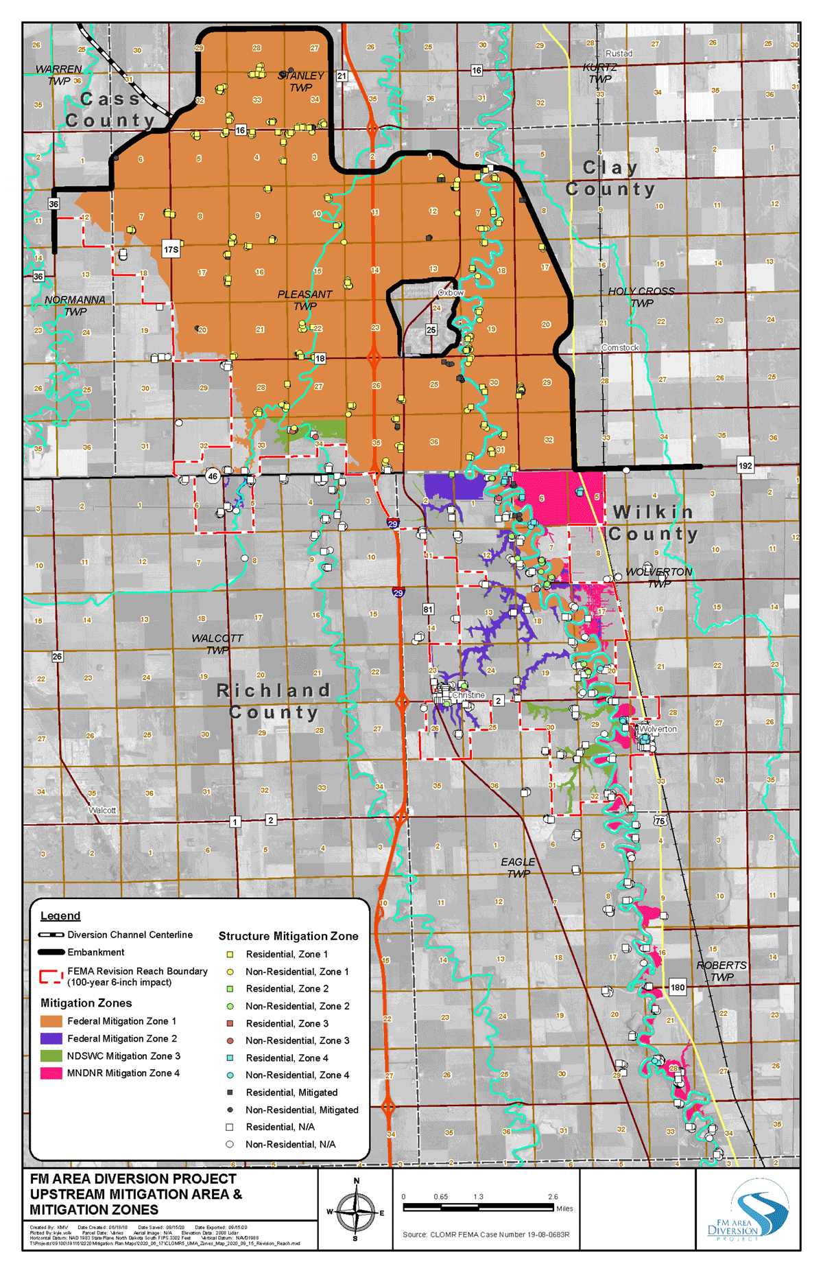 Upstream Mitigation Area Map