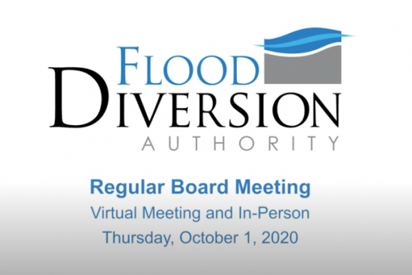 Diversion Board of Authority Meeting – October 1, 2020