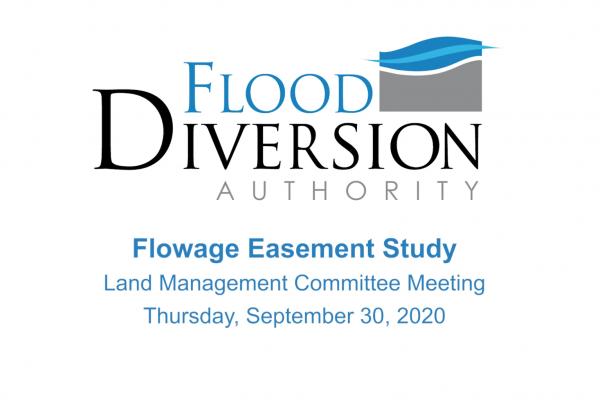 Flowage Easement Study Presentation – September 30, 2020