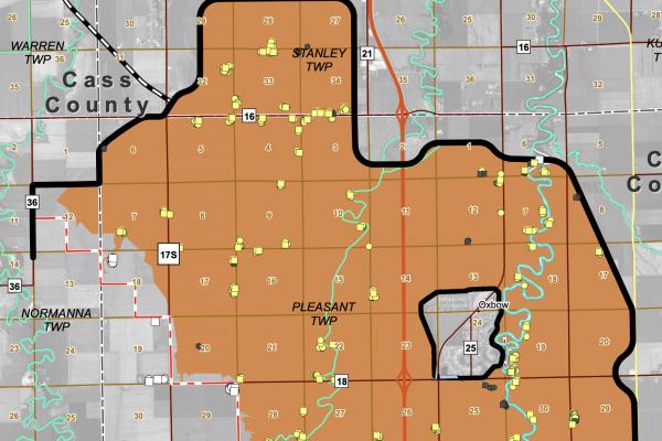 Upstream Mitigation Area Map