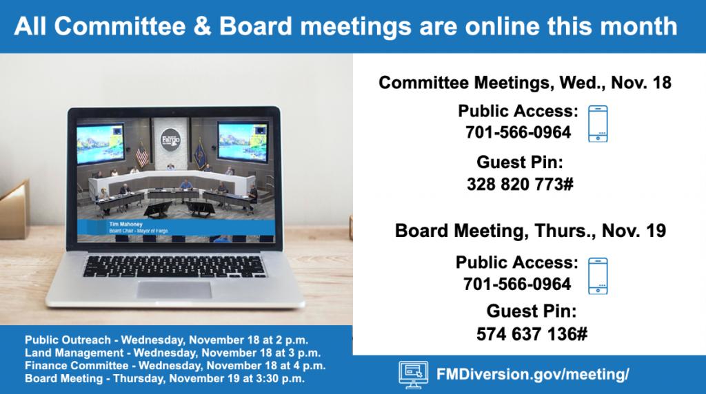 November Diversion Meetings Online