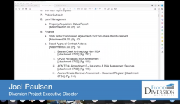 Diversion Board of Authority Meeting – November 19, 2020