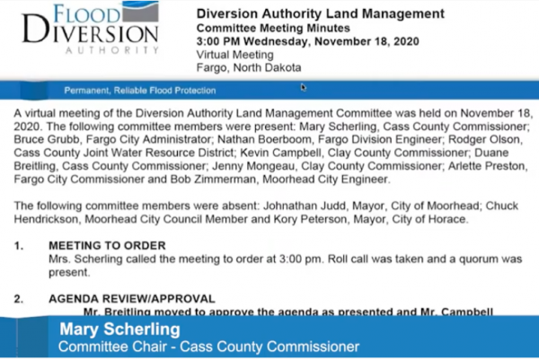 Diversion Land Management Committee Meeting – December 16, 2020