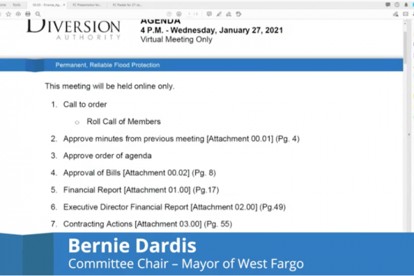 Finance Committee Meeting Video – January 27, 2021