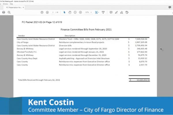 Finance Committee Meeting Video – February 24, 2021