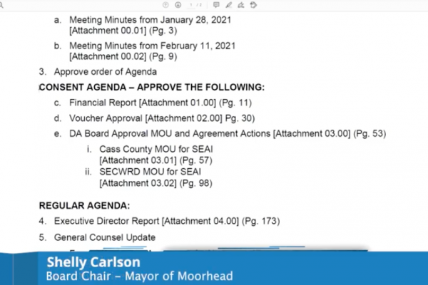 Metro Flood Diversion Board of Authority Meeting Video – February 25, 2021