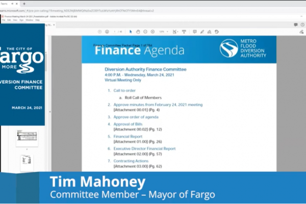 Finance Committee Meeting Video – March 24, 2021