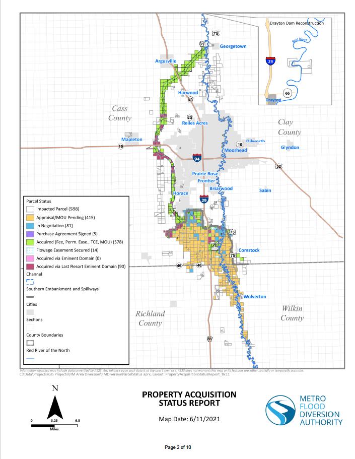 June 2021 Property Acquisition Status Map